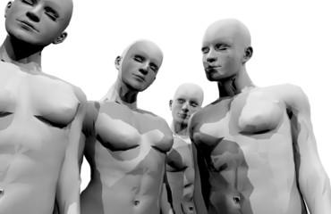 Gruppo femminile in bianco e nero