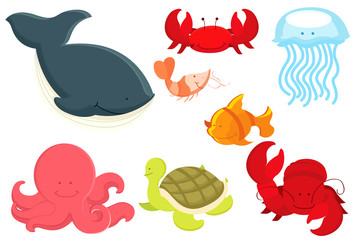 Marine animals cartoon