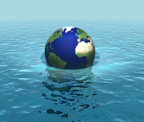 Rising sea levels, drowning planet