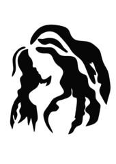girl with long hair logo