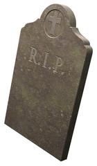 R.I.P. Gravestone, 3D render