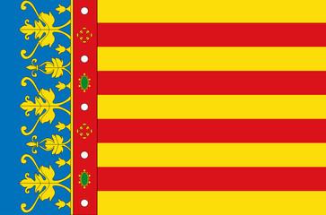 Fototapete - Valencia city flag