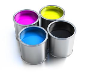 Wall Mural - paint buckets