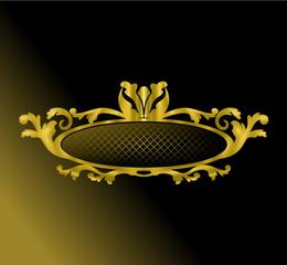 emblème design or