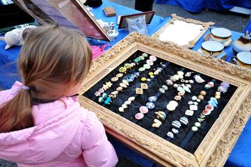 Mentone, Costa Azzurra, il mercato dell'antiquariato