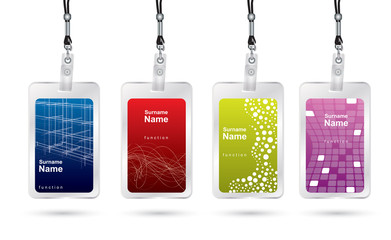 Name tag set