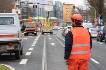 Straßenbau - Road works