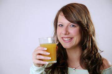 Fototapete - Saft trinken