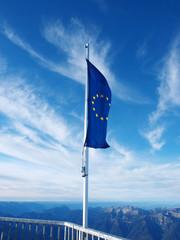 Europaflagge auf der Zugspitze
