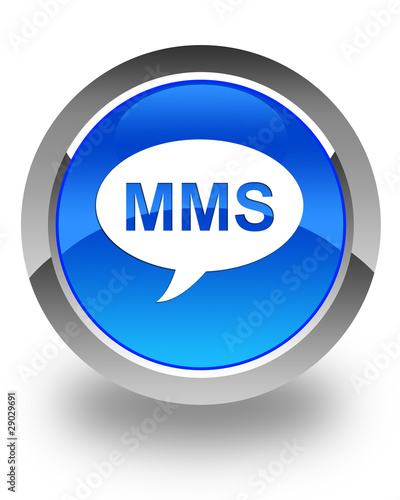 """mms icon on blue button"" Stock photo and royalty-free ..."