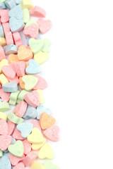 Candy hearts border