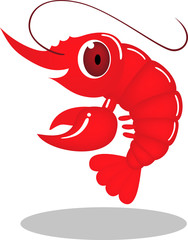 Vector prawn cartoon