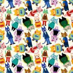 seamless cat pattern