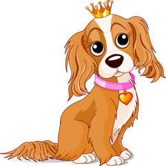 Canvas Prints Fairytale World Royalty dog