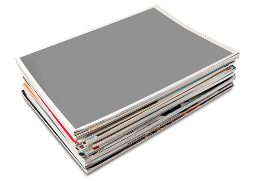 Blank cover page magazine stack