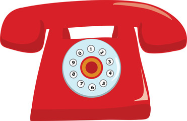 Red Telephone- vector