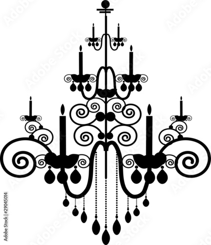 Black chandelier vector stock image and royalty free vector black chandelier vector mozeypictures Choice Image