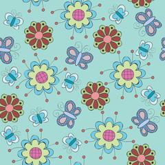 Floral vector seamless wallpaper