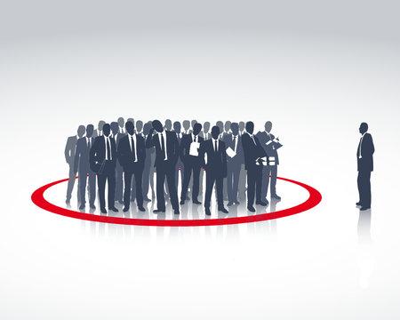 Chef und Arbeitsgruppe