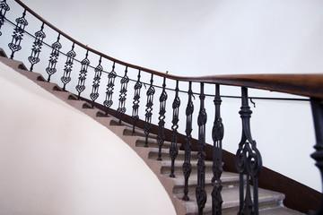 wraught-iron balustrade
