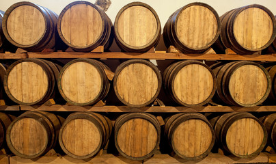 Wine barrels in a Bodega, Lanzarote