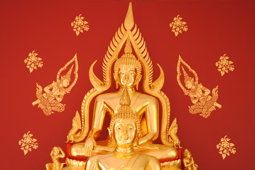 The buddha image is art of Thailand