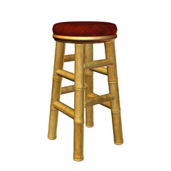 Tiki Bar Stool Illustration
