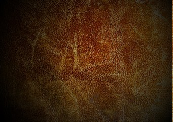 Poster Leder Texture of old used leather