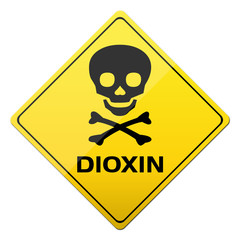 Warnschild Dioxin