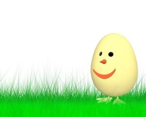 Frohe Ostern mit dem lustigen Küken