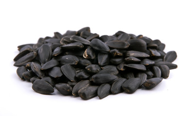 heap of fried sunflower seeds
