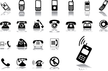 Big set icons - 26. Phones