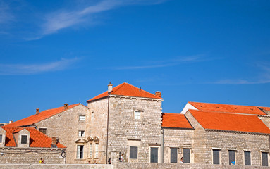 Dubrovnik City Wall Red Roof