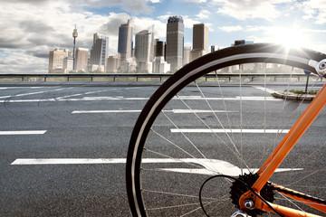 Fototapete - Fahrradkurier