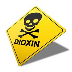3d warnschild, dioxin