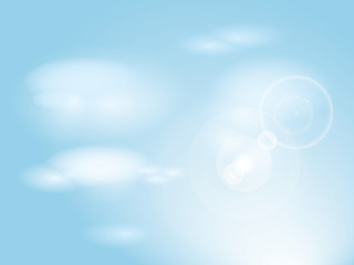 Printed roller blinds Heaven Blue sky with clouds / Abstract background