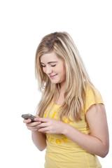 teenager schreibt sms
