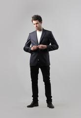 Fashionable businessman
