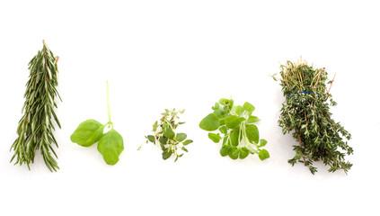 verious herbs