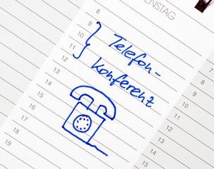 Telefon Konferenz - Termin Kalender
