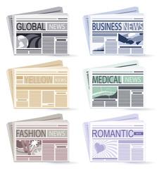 set of six Newspapers