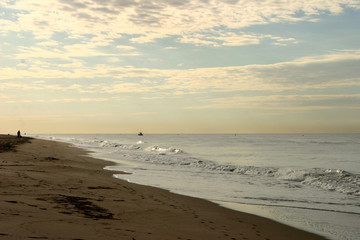 Castelldefels playa. Poblacion costera cercana a Barcelona