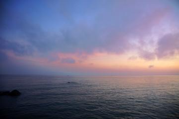The sunrises over island Penang