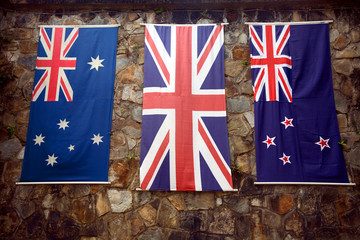 Anzac Day - Australia, Great Britain and New Zealand Flags