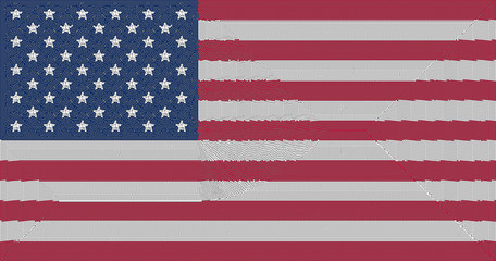 Mosaic of flag of USA