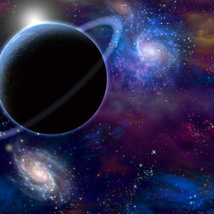 Fototapete - Planet and cosmos