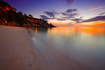 Tropical sunset on the beach. Thailand