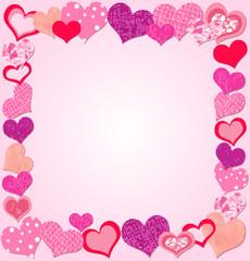 Valentine Day Pink frame