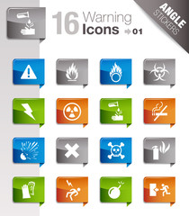 Angle Stickers - warning icons 01