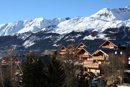 Balcons face aux alpes.